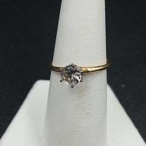 Vintage 10K White Sapphire Ring